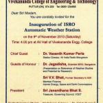 Inauguration of ISRO Autumatic Weather Station